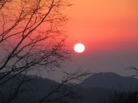 雲取山荘からの夕日